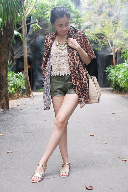 A GREAT MIX  Vern pairs her lace top from SOUL Lifestyle with a leopard cover up and leather shorts  http://www.vernenciso.com/2012/04/great-mix.html    SHOP THE TOP!  now available on http://soulifestyle.multiply.com