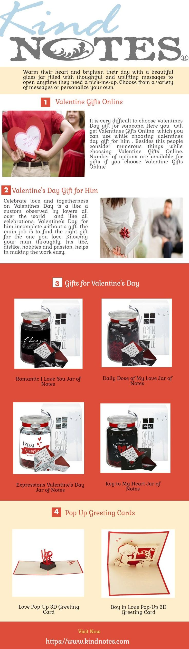 It is very difficult to choose Valentines Day gift for someone. Here you  will get Valentines Gifts Online  which you can use while choosing valentines day gift for him, valentine's day gift for her, gifts for valentine's day, best valentine gift.  Visit now: https://www.kindnotes.com/blogs/news/valentine-gifts-online