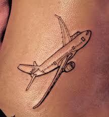 тату самолет фото