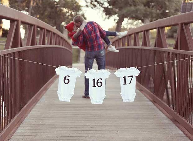 Bodysuit Date Pregnancy Announcement