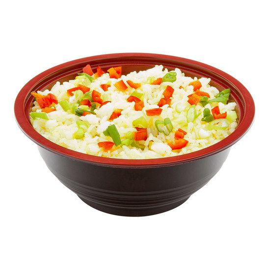 Small Microwavable PP Asian Panda Bowl Black and Red with Lid 18 ounce 200 count box