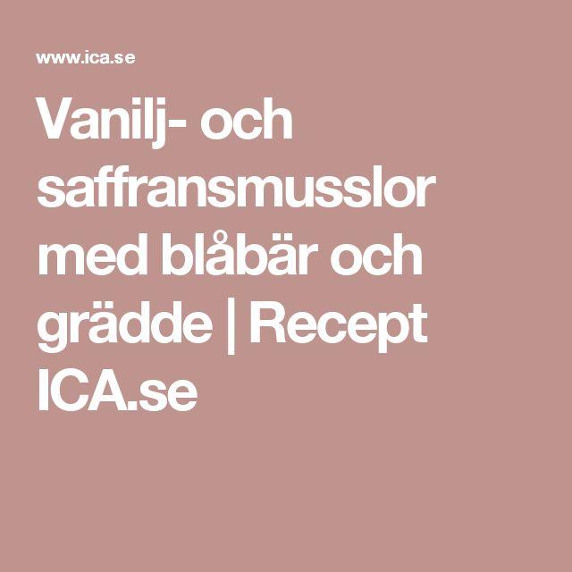 Vanilj- och saffransmusslor med blåbär och grädde   Recept ICA.se