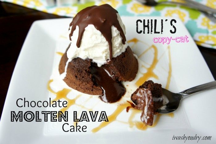 Chili's Copy-cat Chocolate Molten Lava Cake Recipe - pretty much the only dessert I eat, so I must try to make this!