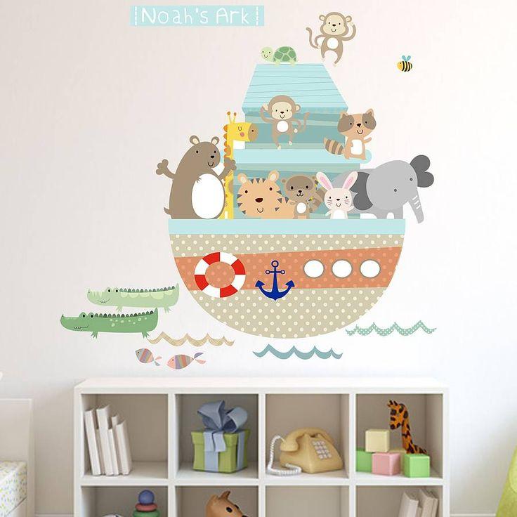 noahs ark fabric wall stickers by littleprints   notonthehighstreet.com