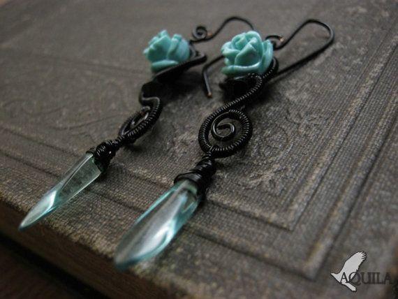lolita jewelry gothic jewelry gothic earring by HouseofAquila