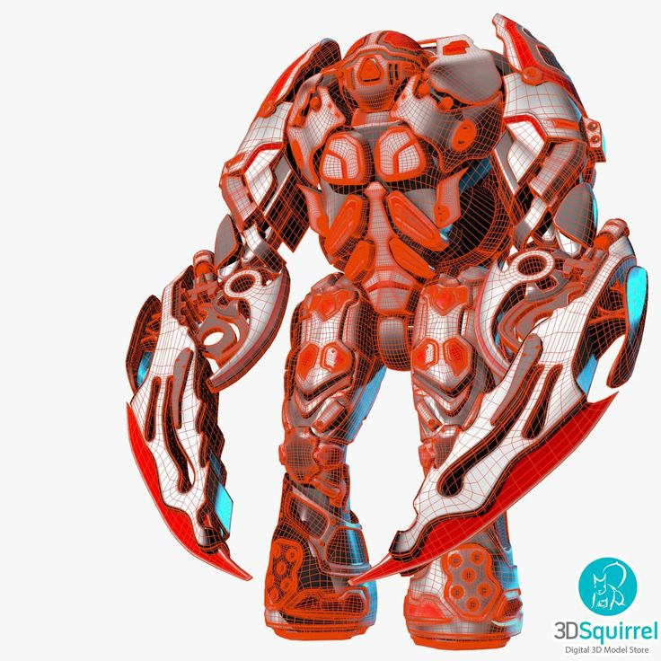 Mauler Robot 3D Model obj blend | 3DSquirrel