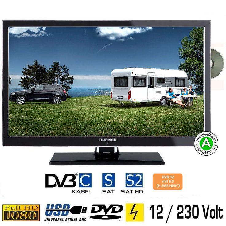 Telefunken L22F272DV LED Fernseher 22 Zoll DVB/S/S2/T2/C, DVD, USB, 12V 230 Volt