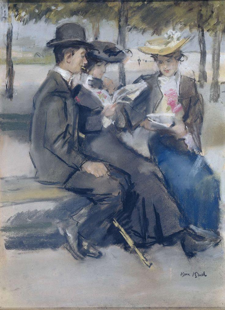 In het Bois de Boulogne bij Parijs, Isaac Israels, 1875 - 1919