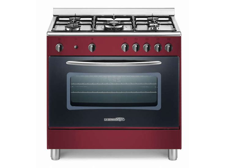 Maxi cuisinière 80x50cm LA GERMANIA HVI8 coloris bordeaux prix promo Cuisinière Conforama 450.75 € TTC au lieu de 599 €