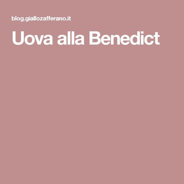 Uova alla Benedict