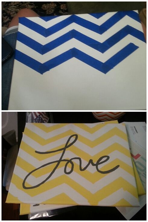 DIY Canvas Art, and reminds me of @Carol Van De Maele Van De Maele Van De Maele Eakin
