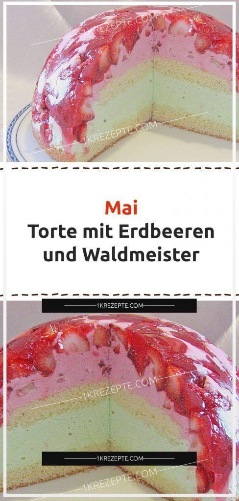 Mai – Torte mit Erdbeeren und Waldmeister