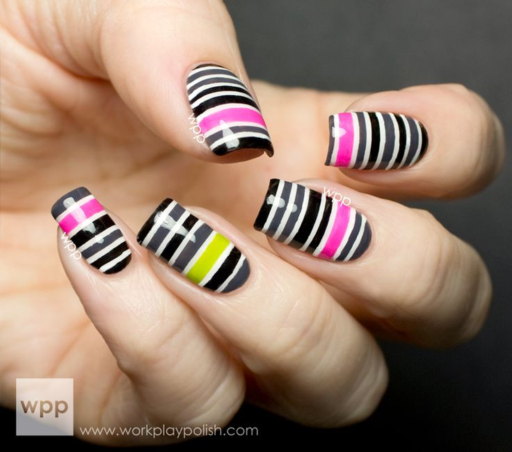 317 best * Taping Nail Art Design Ideas images on Pinterest | Nail ...