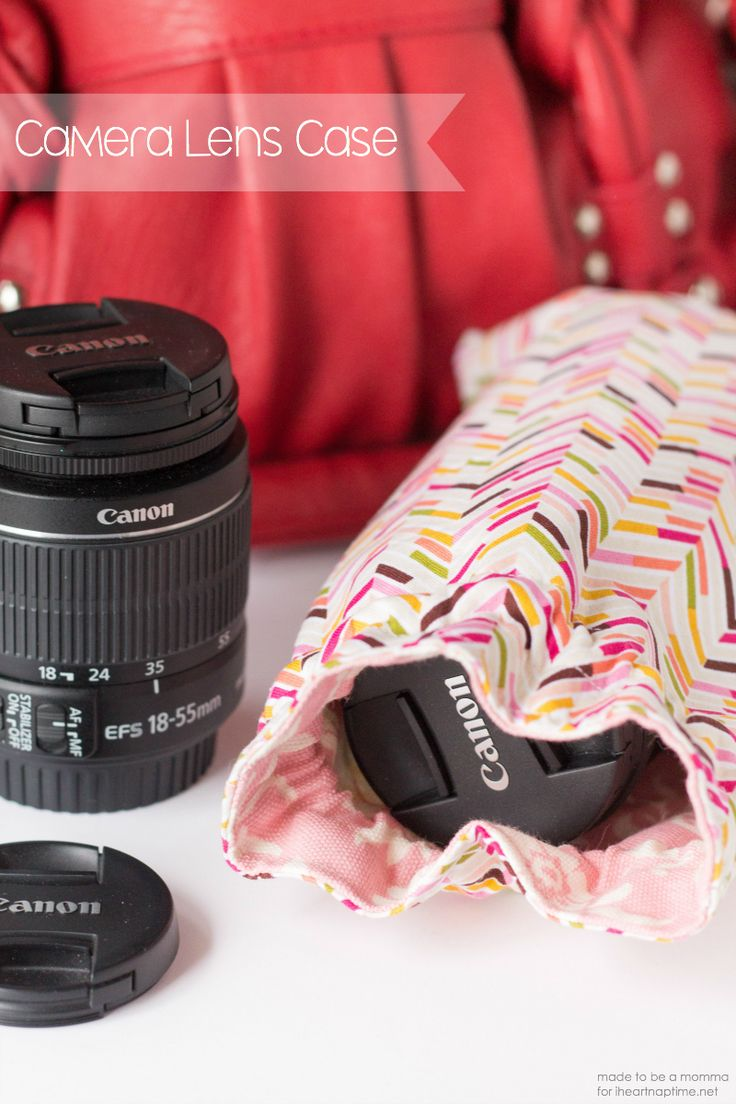 DIY camera lens case tutorial. Perfect gift idea for the photographer in the family.