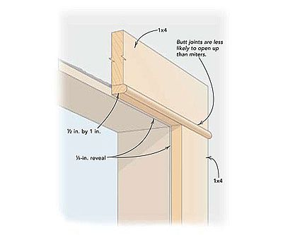 Not-so-common trim details -  We have this trim on our windows and doors and my husband has the top piece overhang by about a half inch and it really looks good!