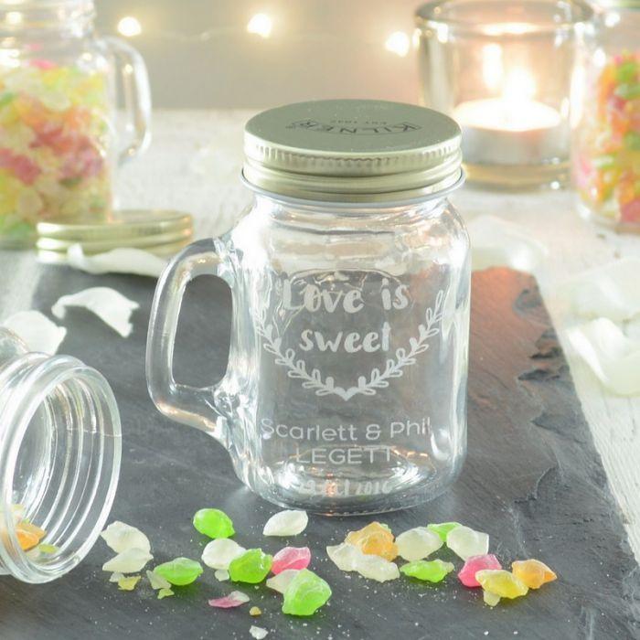 20 Personalised Wedding Favour Jars - Storage Jars - Glassware | Chalk & Cheese