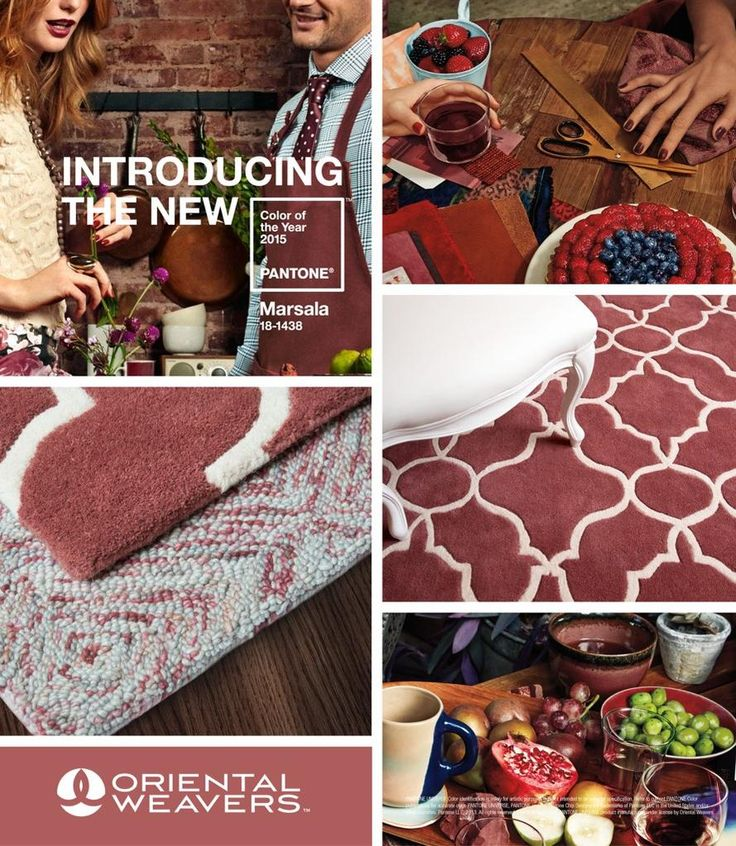 Hearty and stylish! The Pantone Color of the Year 2015 #Marsala now available Oriental Weaver #rugs.