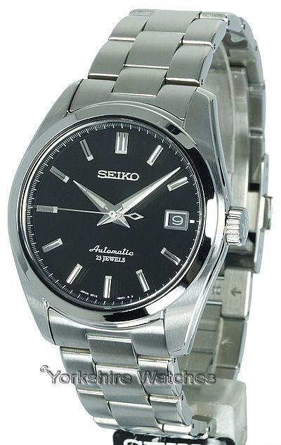 Seiko Automatic Black Face With Stainless Steel Bracelet SARB033