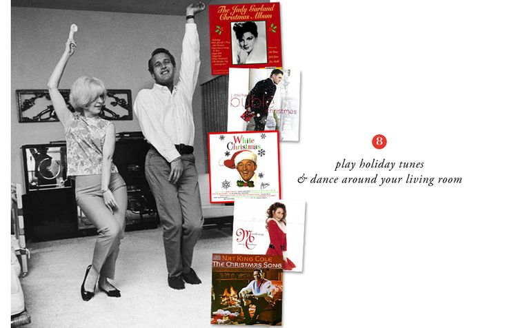 The Everygirl Holiday Week: 12 Easy & Affordable Tips to Bring the Holidays into Your Home // Holiday tunes & dancing