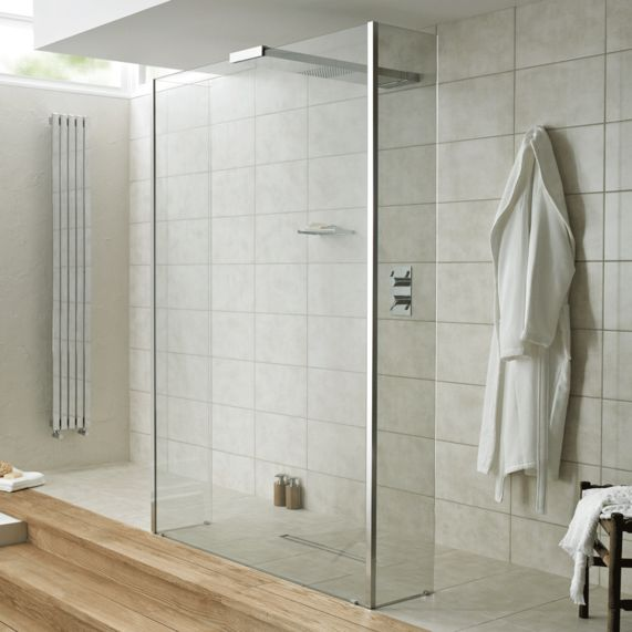 Playtime walk-through shower 700 with integrated shower head and side screen | bathstore