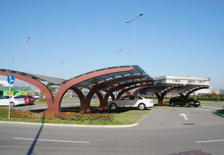 Abrigo em aço para estacionamento VELA - CITYSI