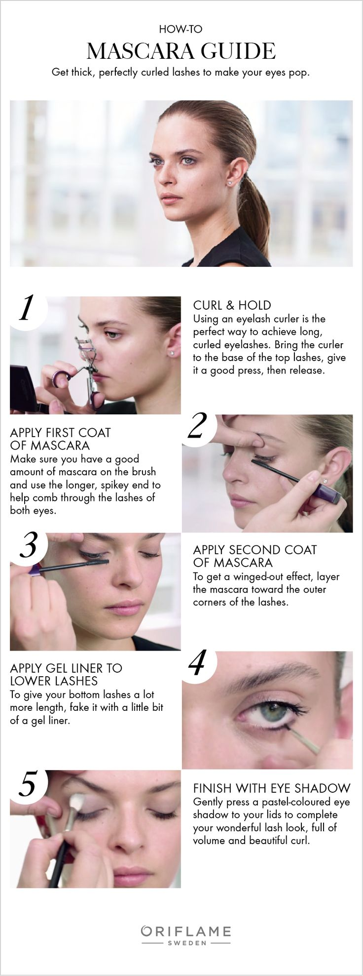 In this exclusive Oriflame how-to, we guide you on necessary steps to creating those thick, perfectly curled eyelashes. (Everyday Makeup Step)