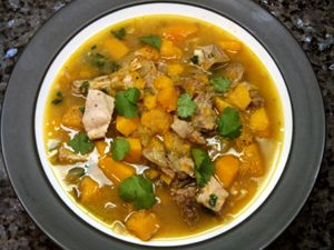 PALEO POSOLE WITH BRAISED PORK SHOULDER, CUMIN AND SQUASH. I will probably make some changes to this, but it's a great starting point!!!