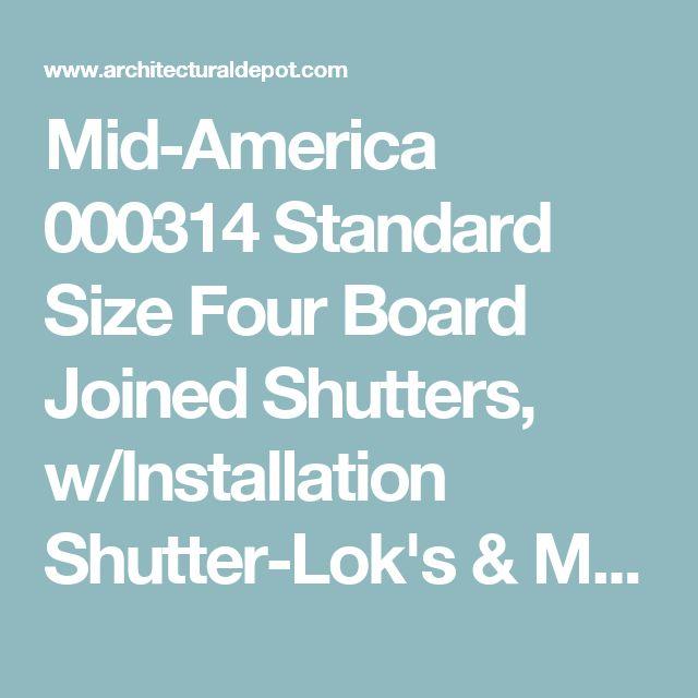 Mid-America 000314 Standard Size Four Board Joined Shutters, w/Installation Shutter-Lok's & Matching Screws