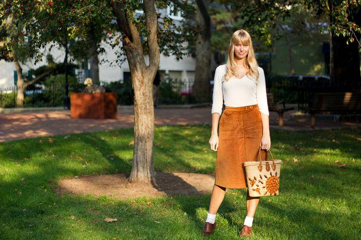 70s corduroy skirt styleabaad.com