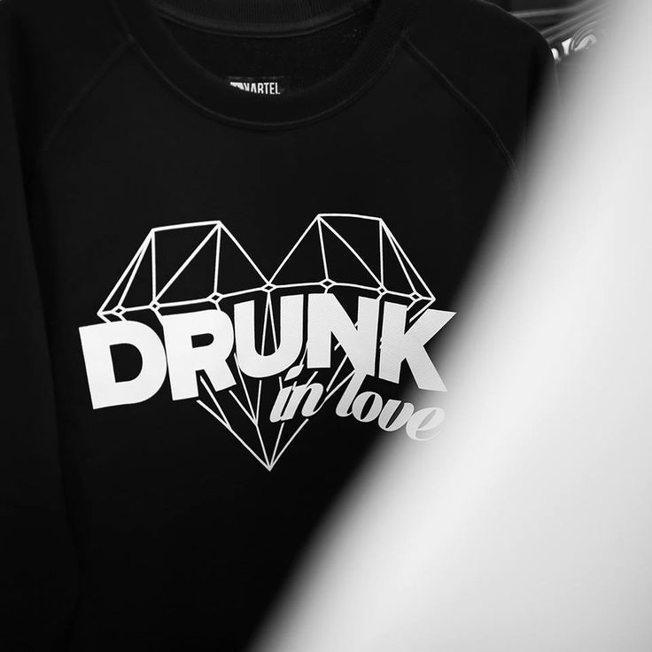 "KARTEL BRAND Sweatshirt ""DRUNK IN LOVE"" --> shop at: www.hustla.pl/kartel www.kartelbrand.com"