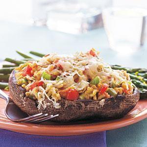 Grain and Vegetable-Stuffed Portobello Mushrooms Recipe | MyRecipes.com