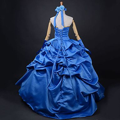 Inspired by Fate/Zero Saber Anime Cosplay Costumes Cosplay Suits / Dresses Patchwork Blue Dress / Headband / Gloves 935211 2016 – $89.99