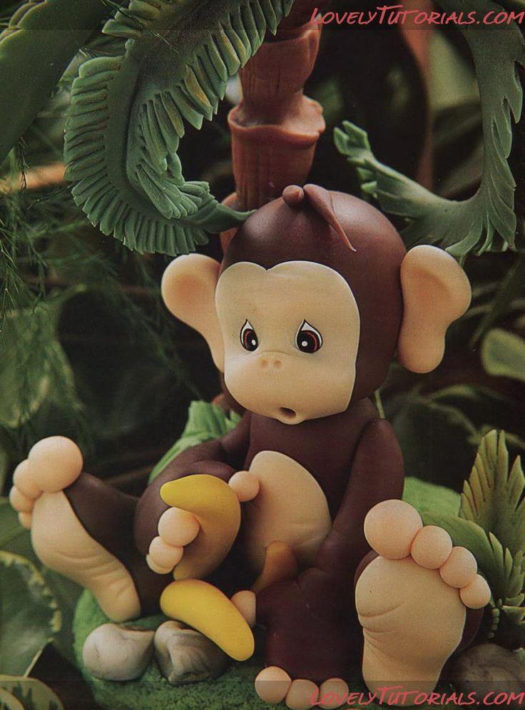 Обезьяна, monkey, meymun, macaco, mono - Мастер-классы по украшению тортов Cake Decorating Tutorials (How To's) Tortas Paso a Paso