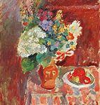 STILL LIFE WITH FLOWERS , Ephraim and Menashe Seidenbeutel (1903-1945) , tweens, holocaust victims.