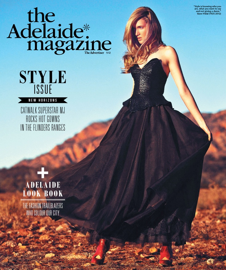Countdown begins... the Adelaide* magazine Style Issue lands on Thursday Aug 30. Featuring catwalk sensation MJ against a stunning Wilpena Pound backdrop.