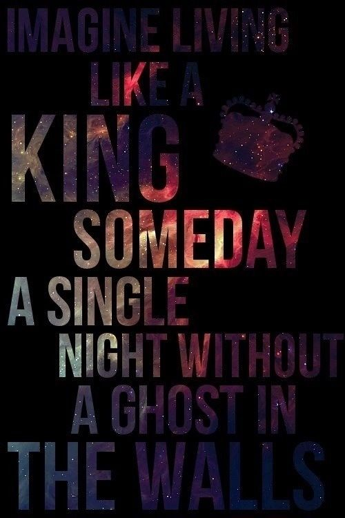 King for a Day by Pierce the Veil, ft. Kellin Quinn from Sleeping with Sirens. This is one of my favorite songs by any band ever <3