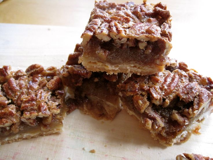 pecan pie bars! I (Liz) made these on 10/01/13 and they are delicious ...