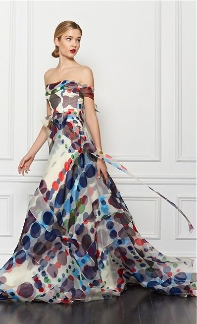 Carolina Herrera Pre-Fall 2013 Love this fabric!                              …