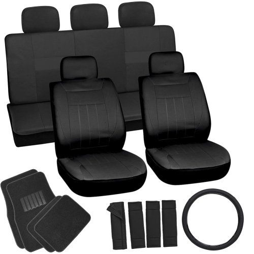 OxGord 21pc Solid Black Flat Cloth Seat Cover and Carpet Floor Mat Set for the Fiat 500L Hatchback, Airbag Compatible, Split Bench, Steering Wheel Cover Included Oxgord http://smile.amazon.com/dp/B00H7H6Q84/ref=cm_sw_r_pi_dp_gNo9tb12E154H