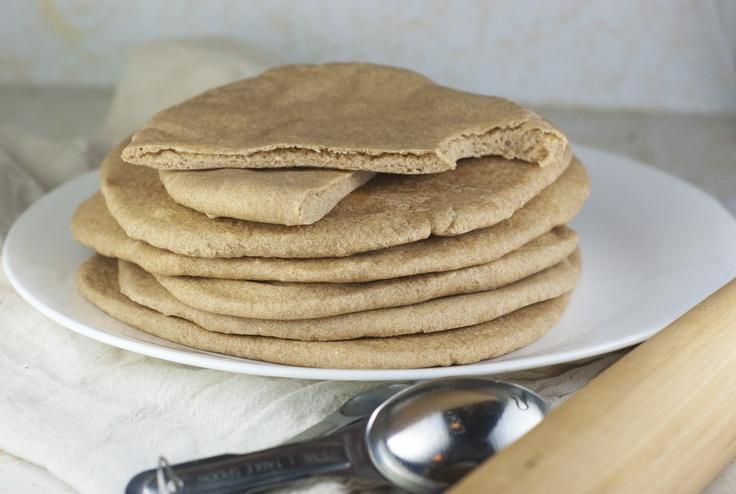 5-ingedient, 100% whole wheat #vegan pita bread