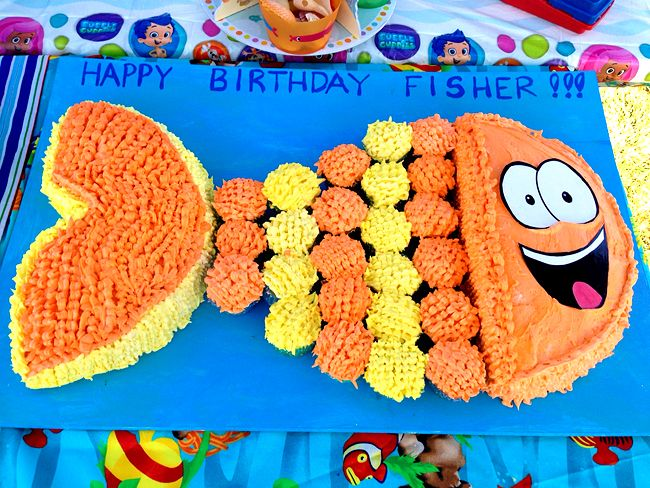Bubble Guppies party idea - Mr. Grouper cake