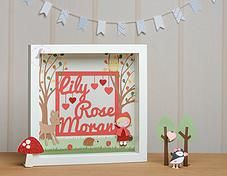 Pink Puffin Crafts | Framed Collection | Woodland Girl | £34 | www.pinkpuffincrafts.co.uk