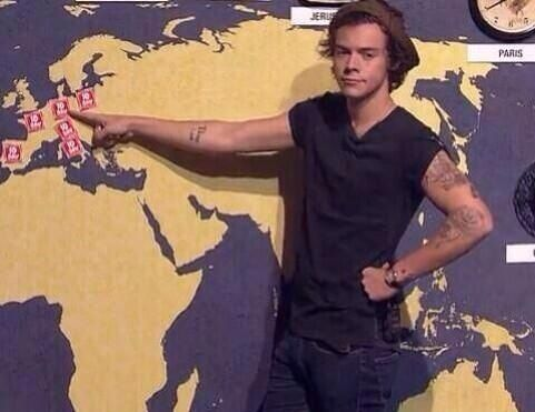 Harry should be a weather girl.