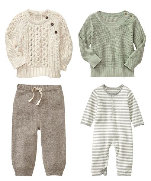 i love all these natural colored babygap clothes