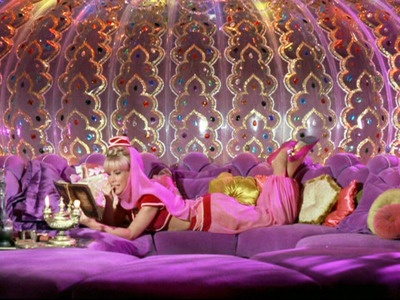 I always loved Jeannie's pad inside her bottle!  1960's TV show - I DREAM OF JEANNIE