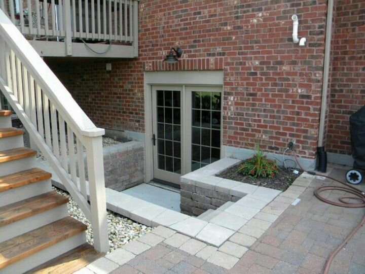 43 best images about hill landscaping on pinterest for Walkout basement windows