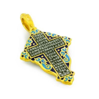 Купить Крест нательный с эмалью из серебра KRSPE0802 по лучшей цене от ЮК 'Деревцов'