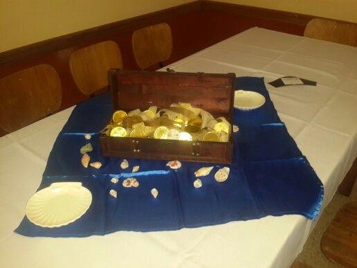 Cofre con doblones de chocolate
