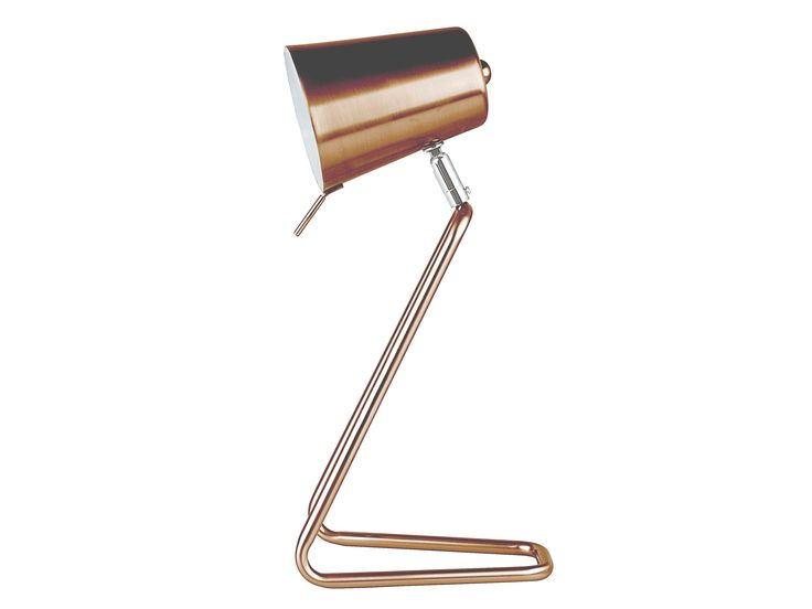 Z is a simple well balanced table lamp in copper/white inside shade from Leitmotiv.  (more colours coming soon)