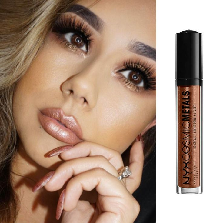 NYX Cosmic Metals Lip Cream in Retro Harmony is a deliciously rich lip cream that combines the pigment of a lipstick with the moisturized feeling of a gloss.